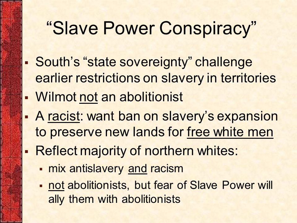Slave Power Conspiracy