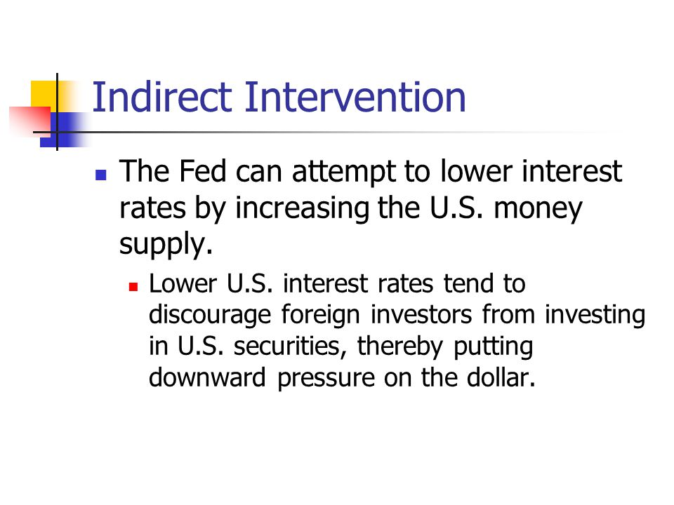 Indirect Intervention