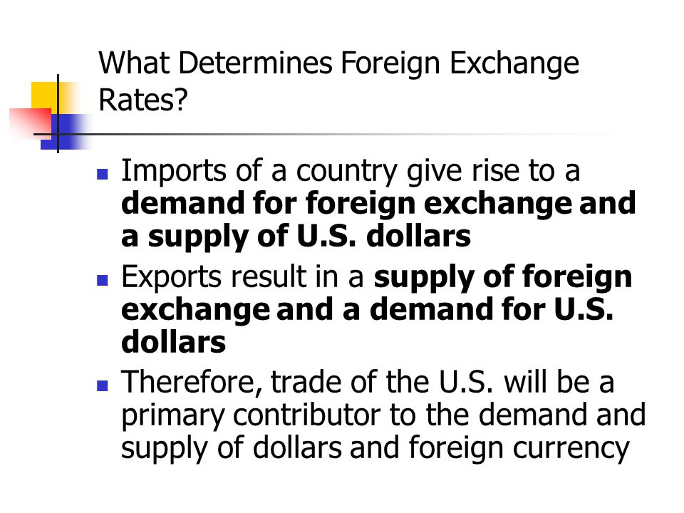 What Determines Foreign Exchange Rates