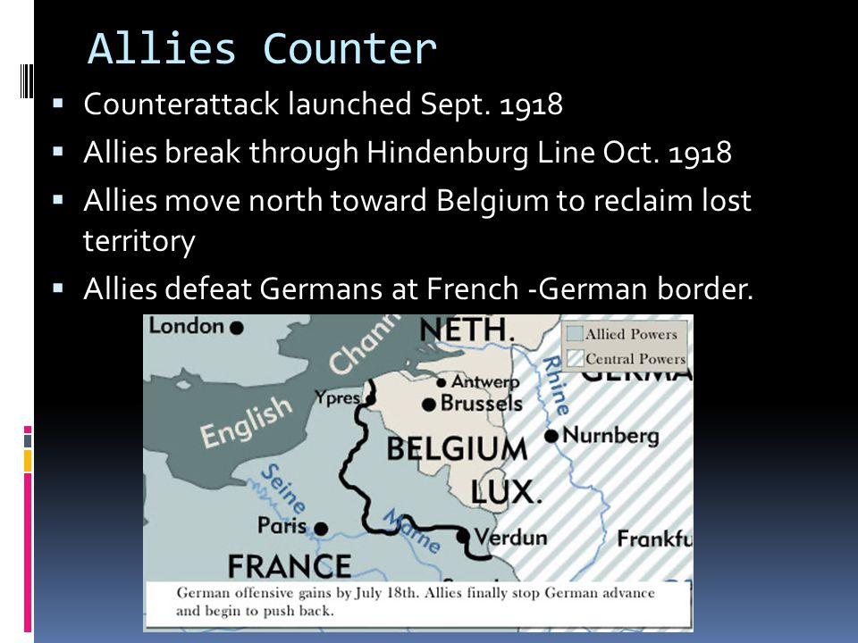 Allies Counter Counterattack launched Sept. 1918