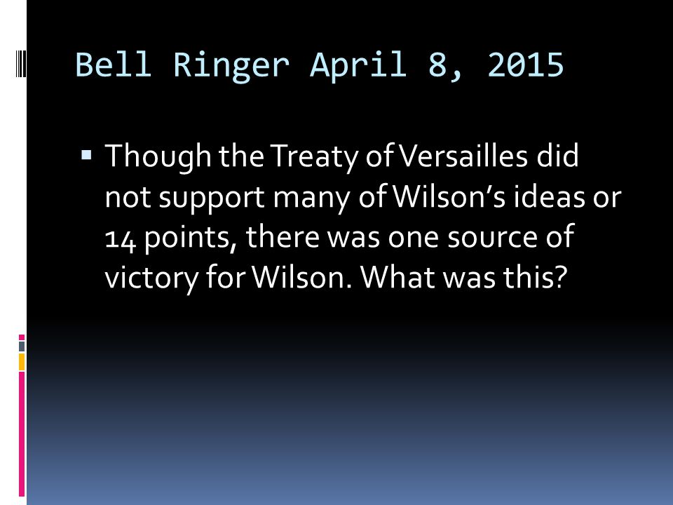 Bell Ringer April 8, 2015