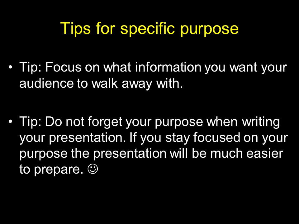Tips for specific purpose