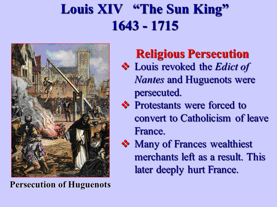 Louis XIV The Sun King