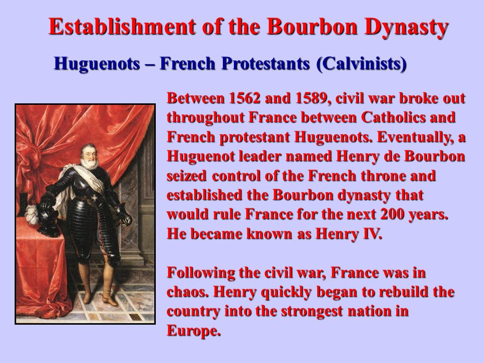 Establishment of the Bourbon Dynasty