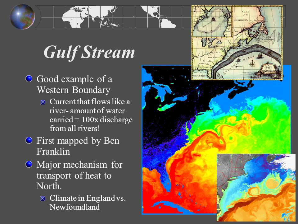 Gulf Stream Good example of a Western Boundary
