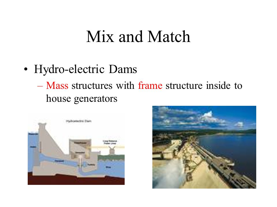 Mix and Match Hydro-electric Dams