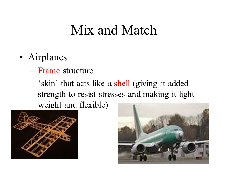 Mix and Match Airplanes Frame structure