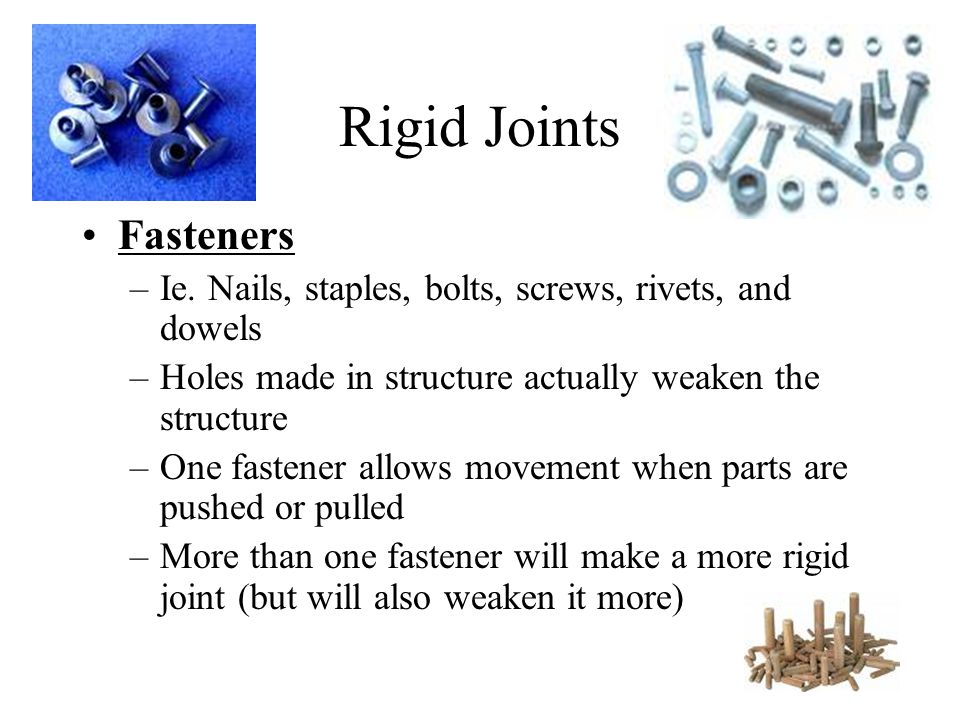 Rigid Joints Fasteners