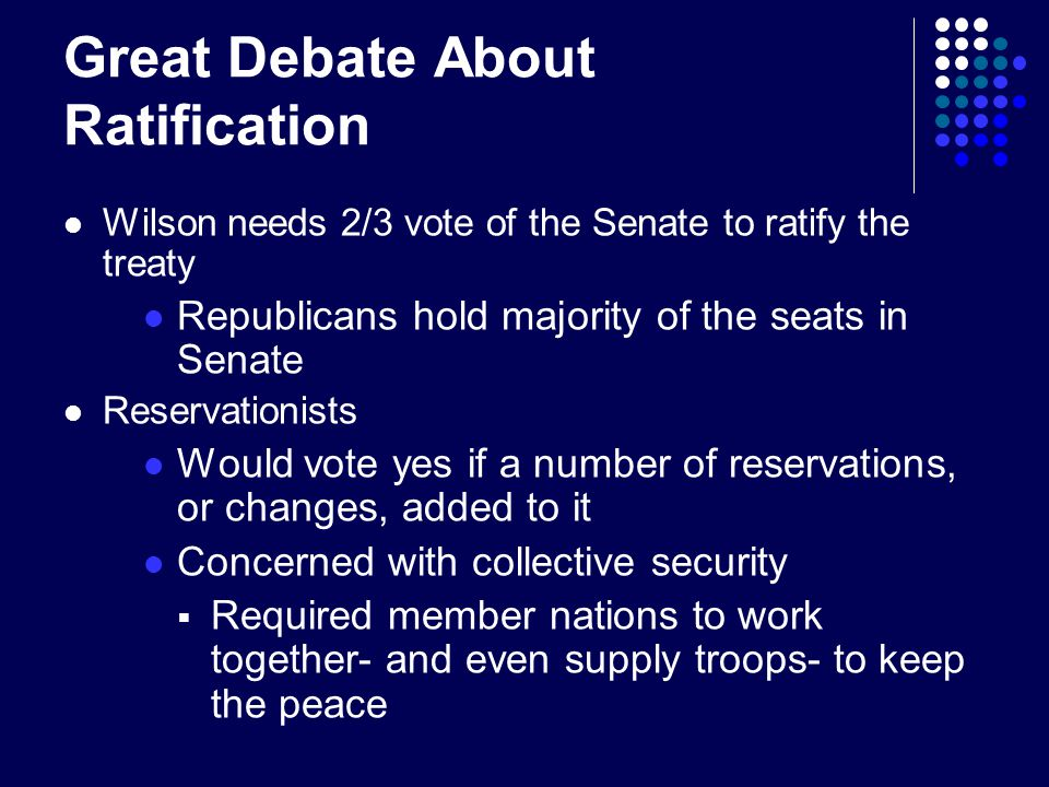 Great Debate About Ratification