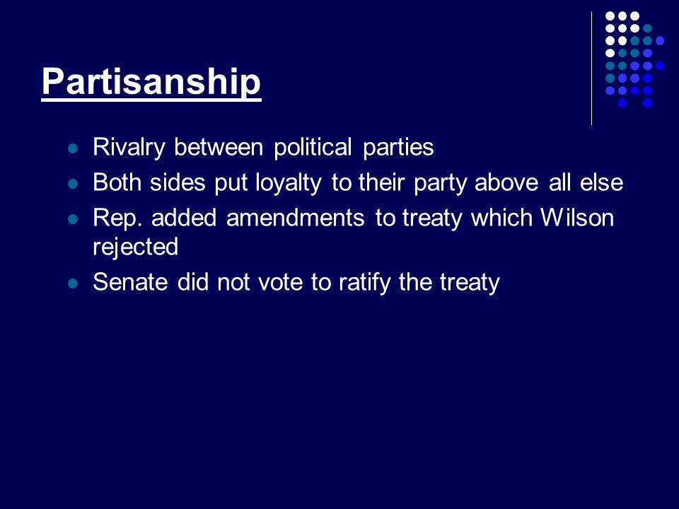 Partisanship Rivalry between political parties