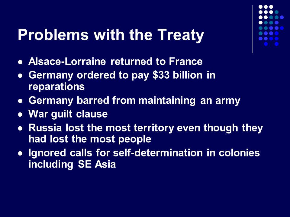Problems with the Treaty