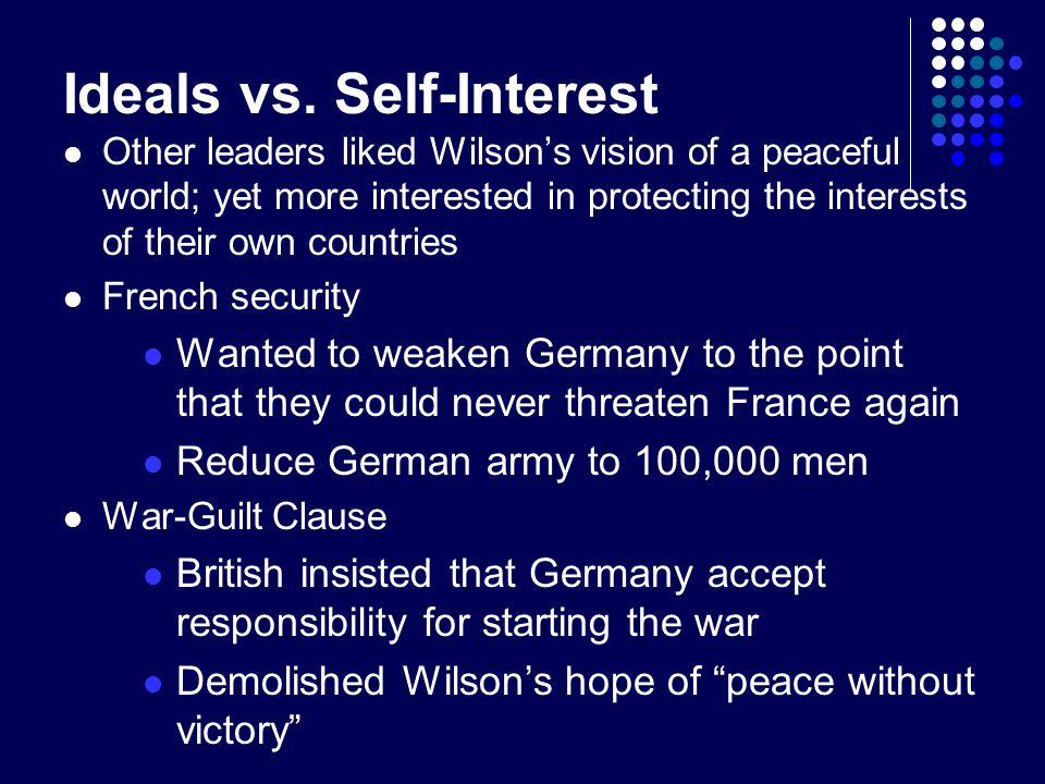 Ideals vs. Self-Interest