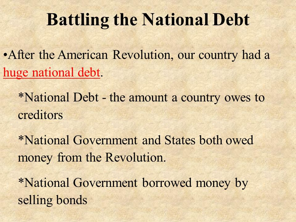 Battling the National Debt