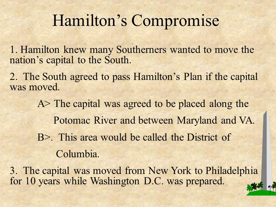 Hamilton's Compromise