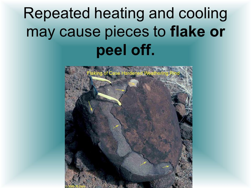 Repeated heating and cooling may cause pieces to flake or peel off.