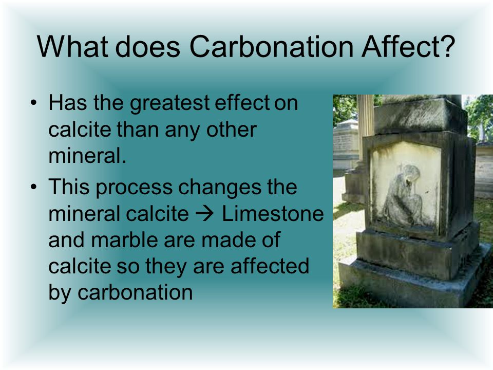 What does Carbonation Affect