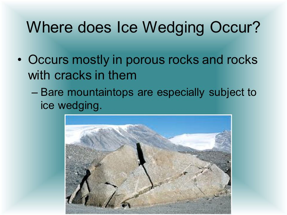 Where does Ice Wedging Occur