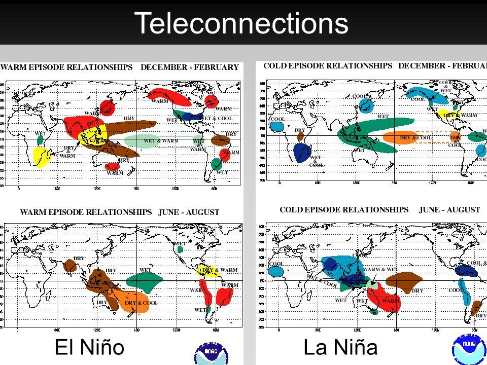 Teleconnections El Niño La Niña