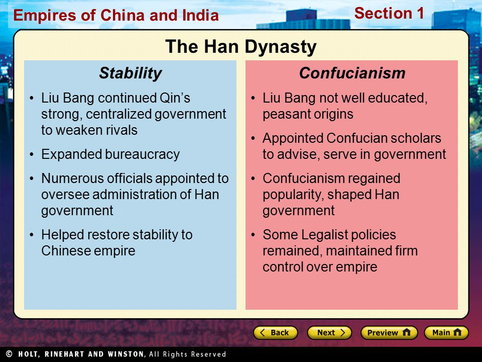 The Han Dynasty Stability Confucianism