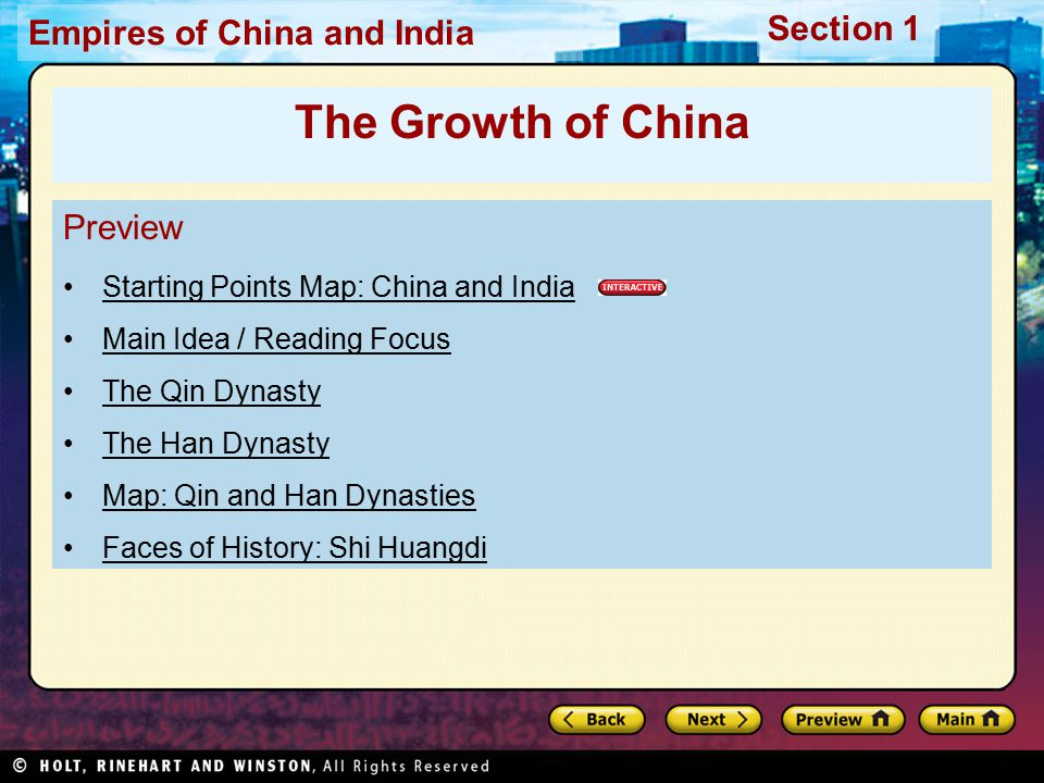 The Growth of China Preview Starting Points Map: China and India