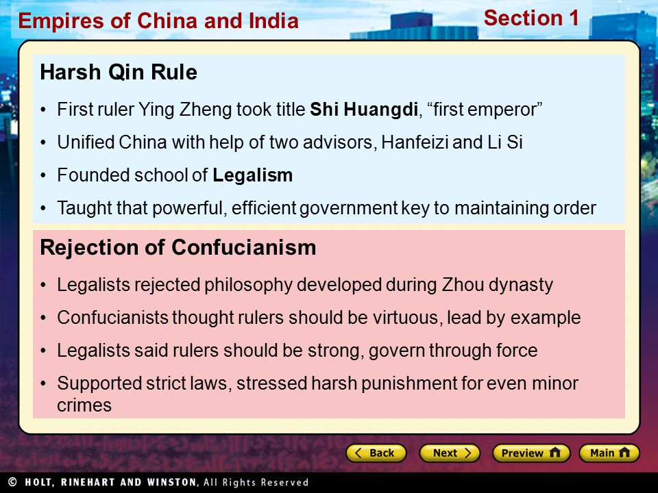 Rejection of Confucianism