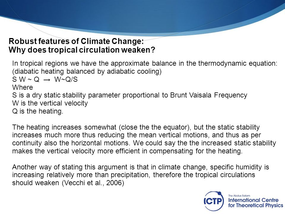 Robust features of Climate Change: