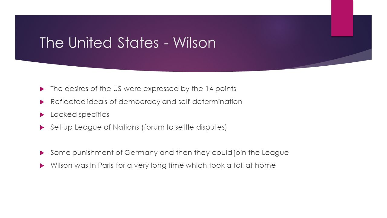 The United States - Wilson