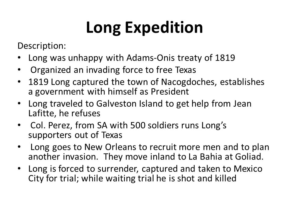 Long Expedition Description: