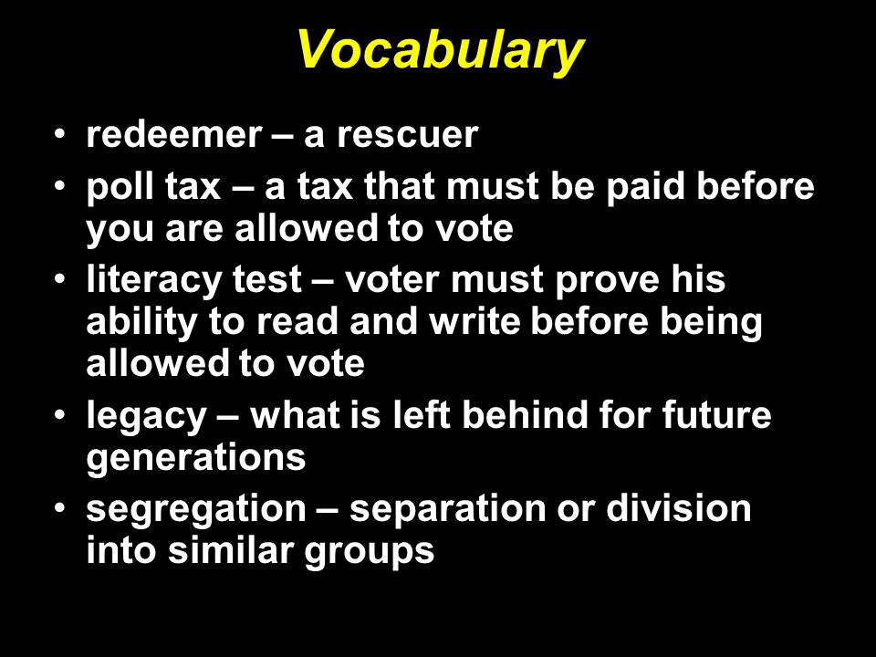 Vocabulary redeemer – a rescuer