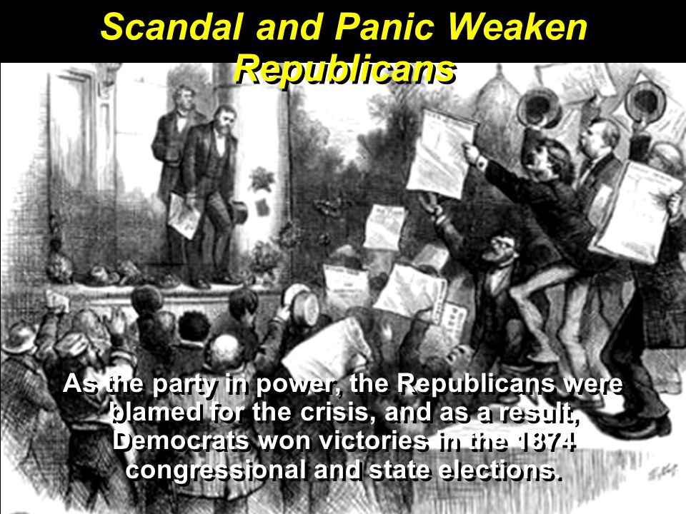 Scandal and Panic Weaken Republicans