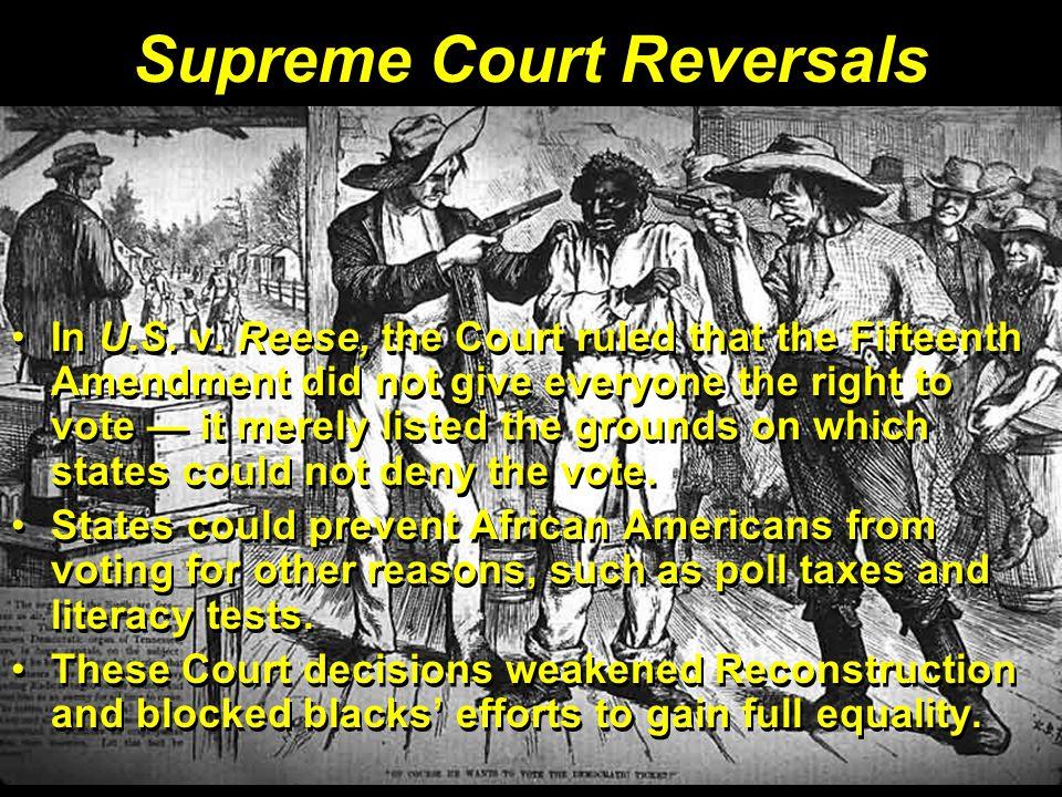 Supreme Court Reversals