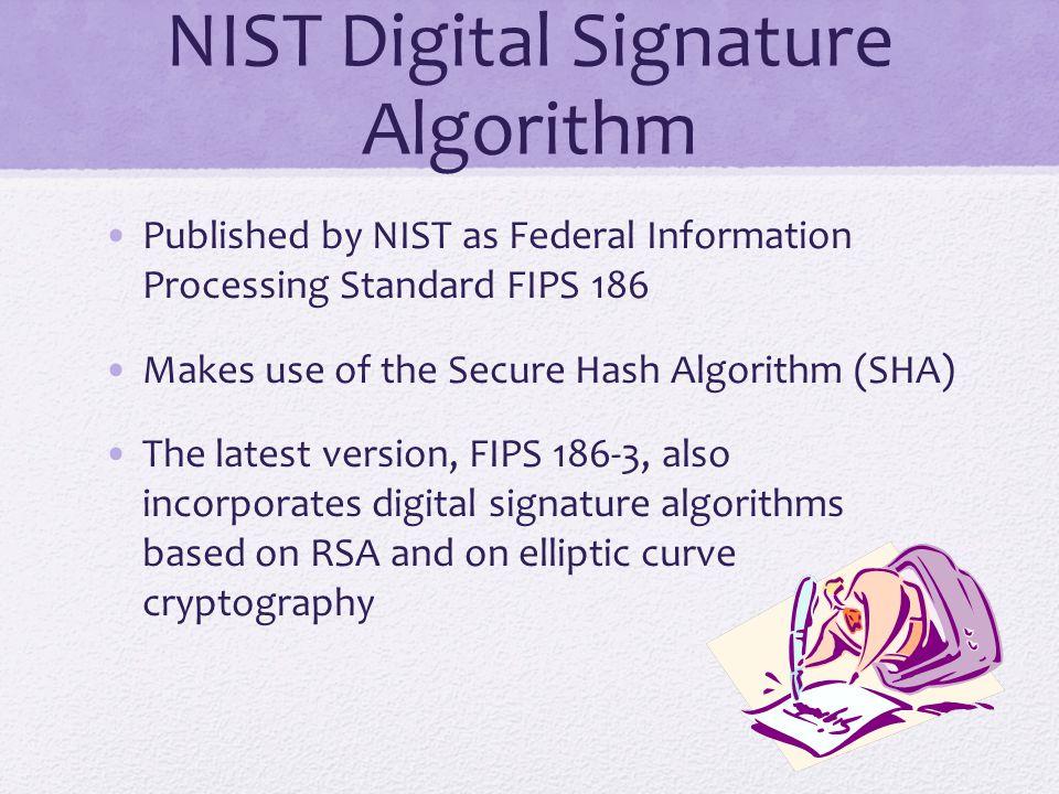 NIST Digital Signature Algorithm