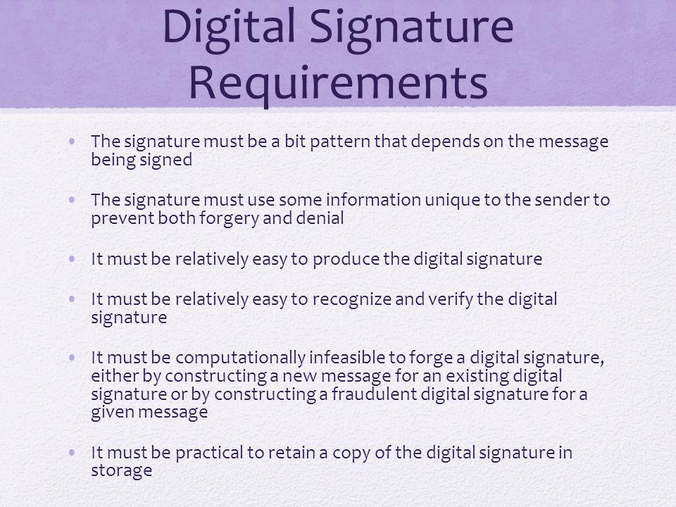Digital Signature Requirements