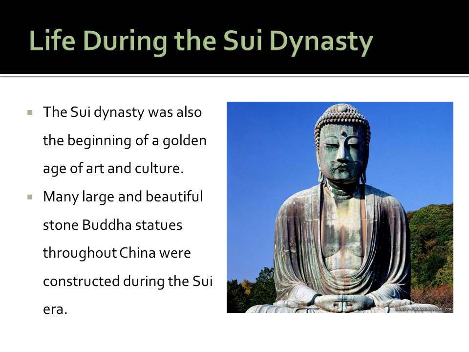 Life During the Sui Dynasty
