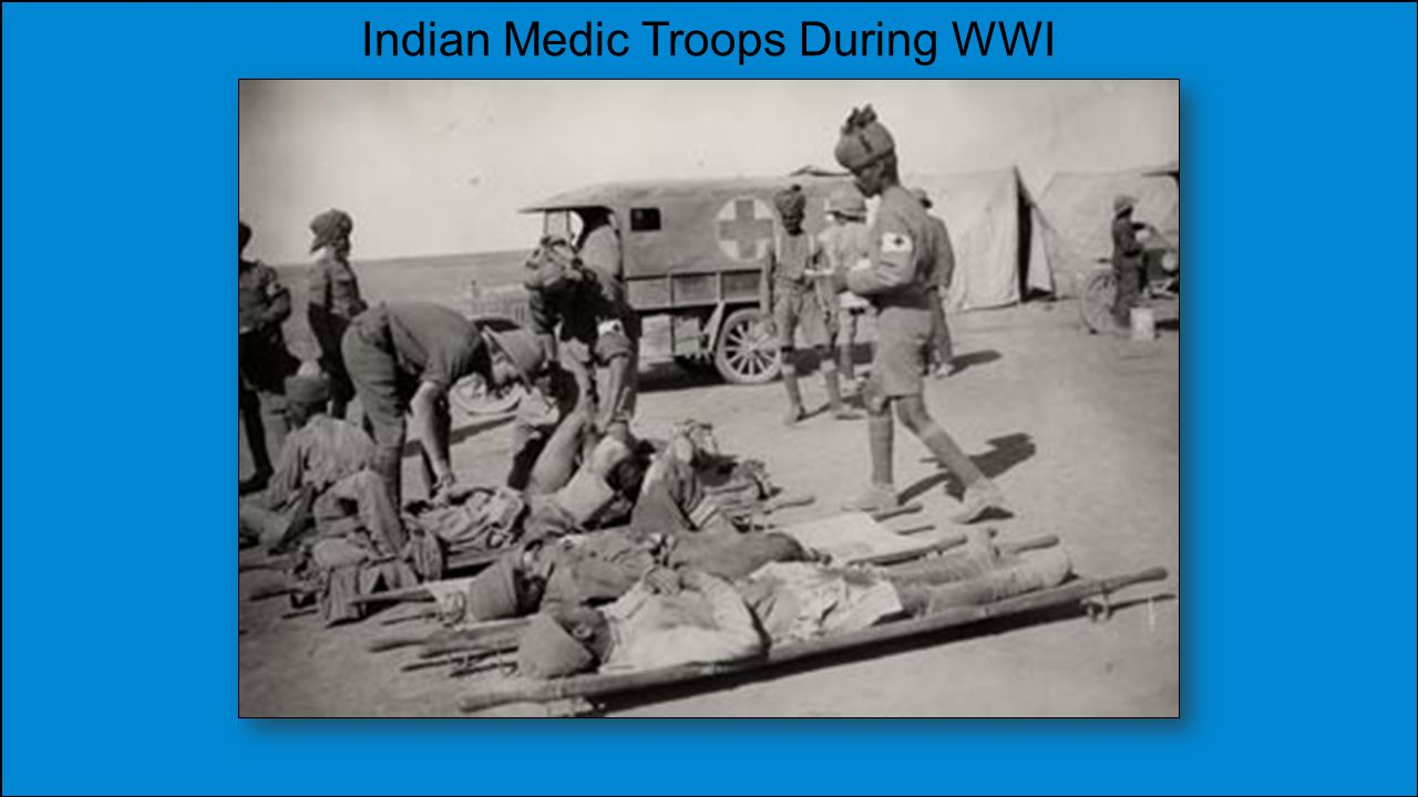 Indian Medic Troops During WWI