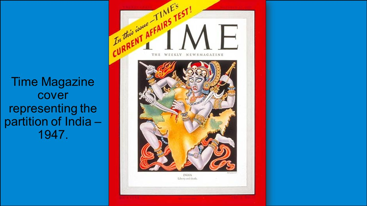 Time Magazine cover representing the partition of India – 1947.