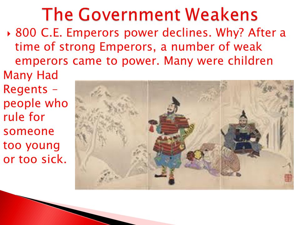 The Government Weakens