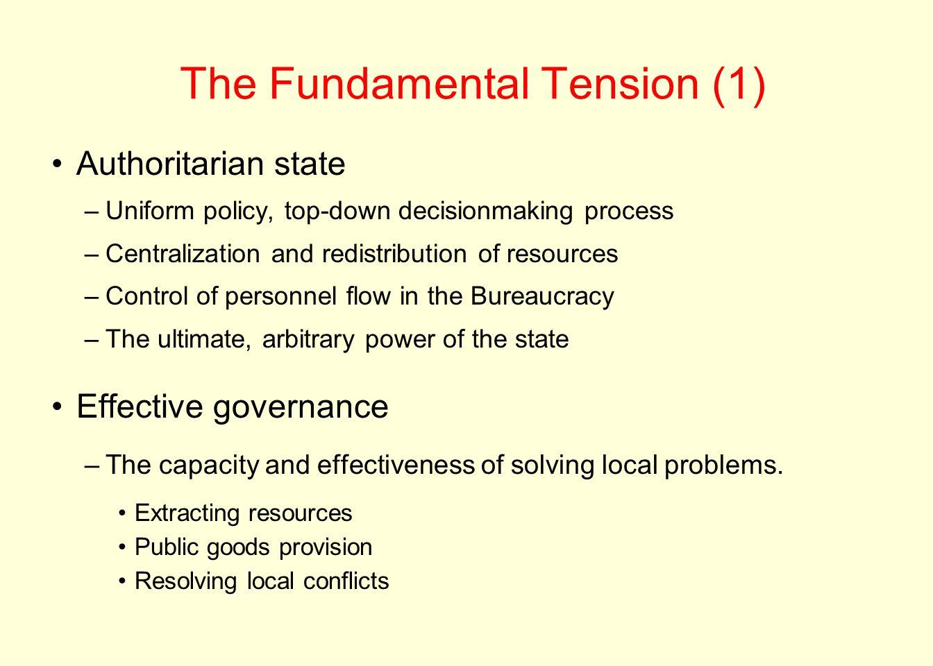 The Fundamental Tension (1)