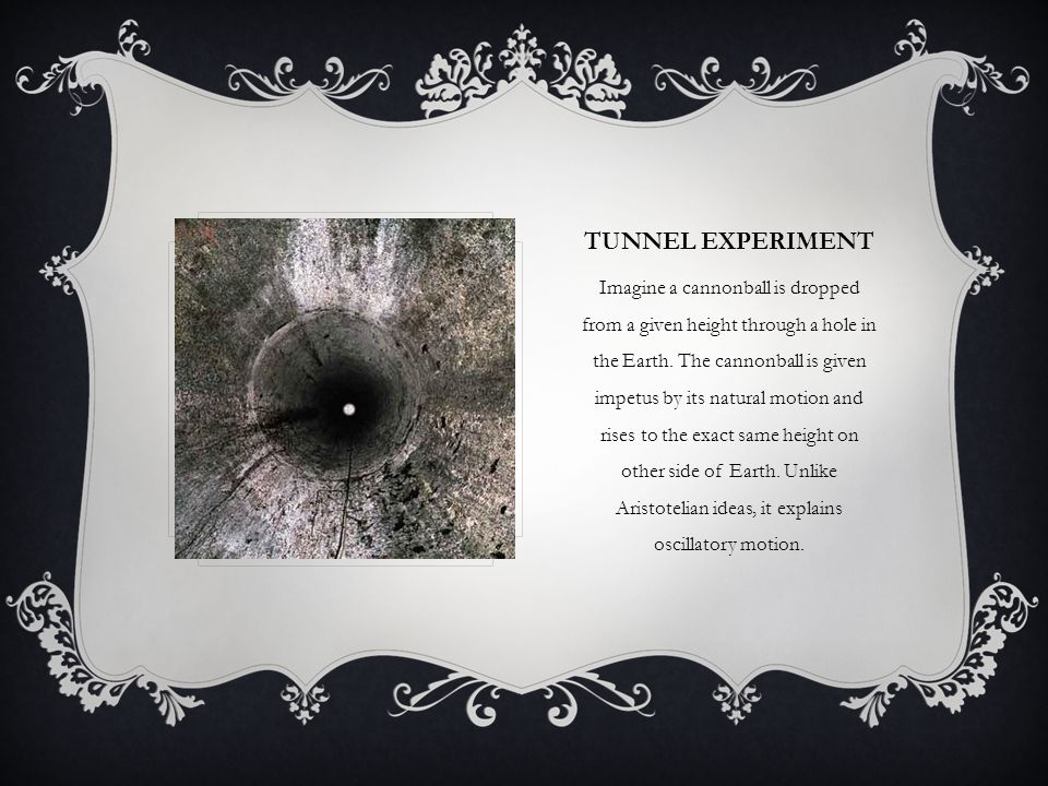 Tunnel experiment