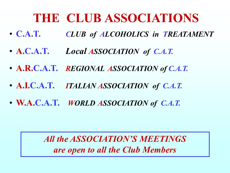 All the ASSOCIATION'S MEETINGS are open to all the Club Members