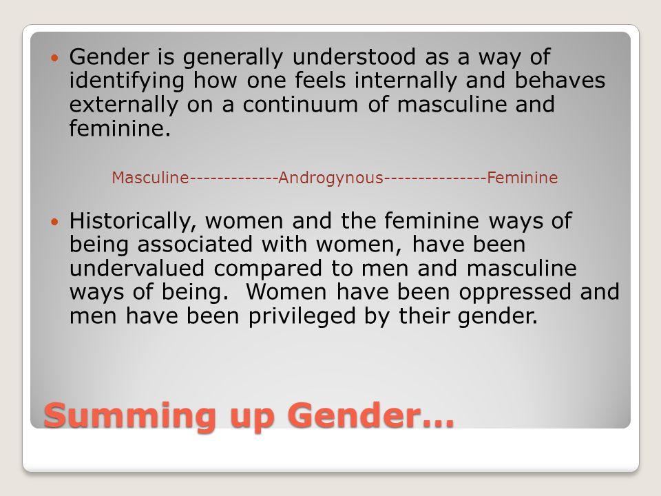 Masculine-------------Androgynous---------------Feminine