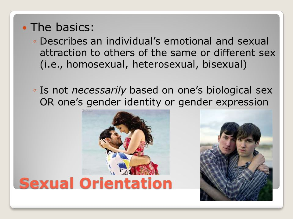 Sexual Orientation The basics: