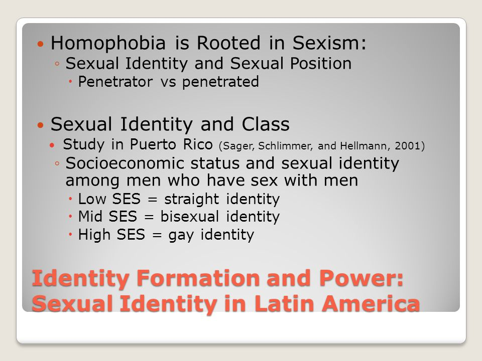 Identity Formation and Power: Sexual Identity in Latin America