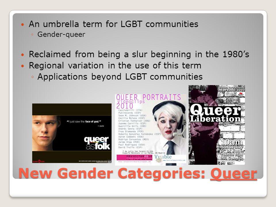 New Gender Categories: Queer