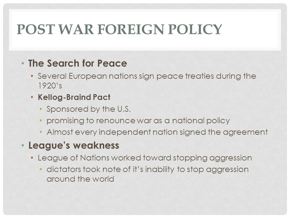 Post War foreign policy