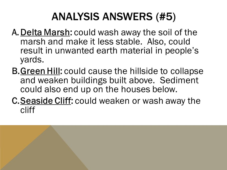 Analysis answers (#5)