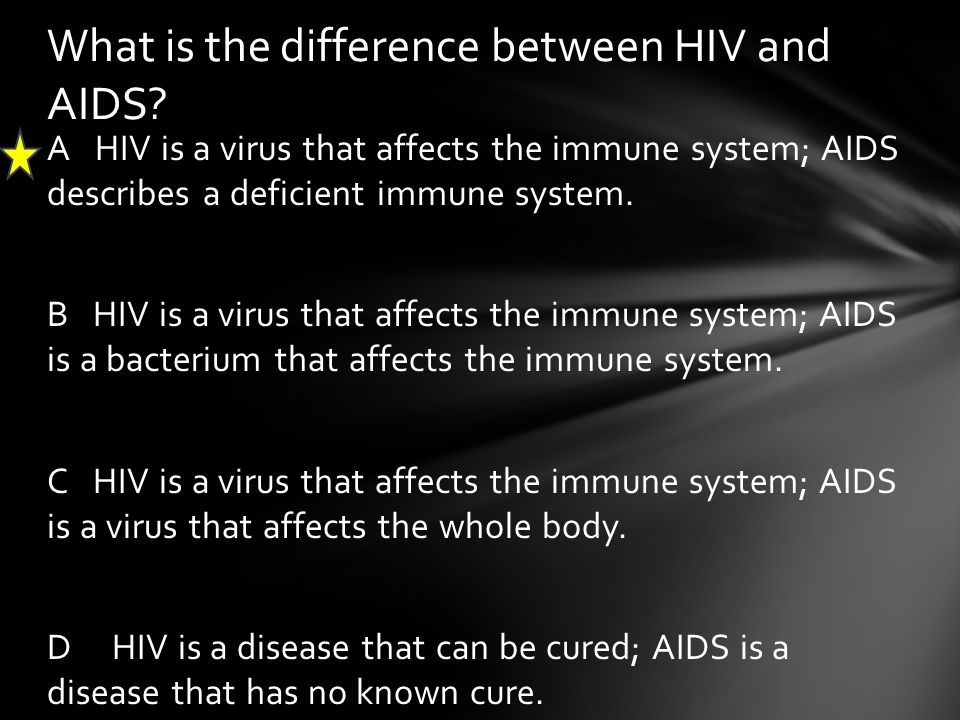 What is the difference between HIV and AIDS