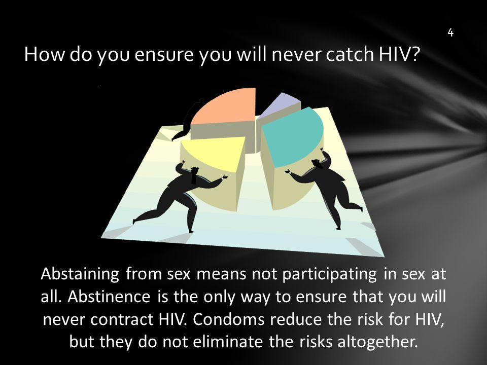 How do you ensure you will never catch HIV