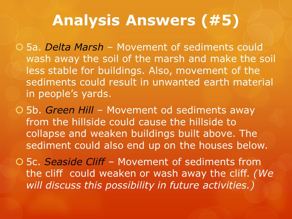 Analysis Answers (#5)
