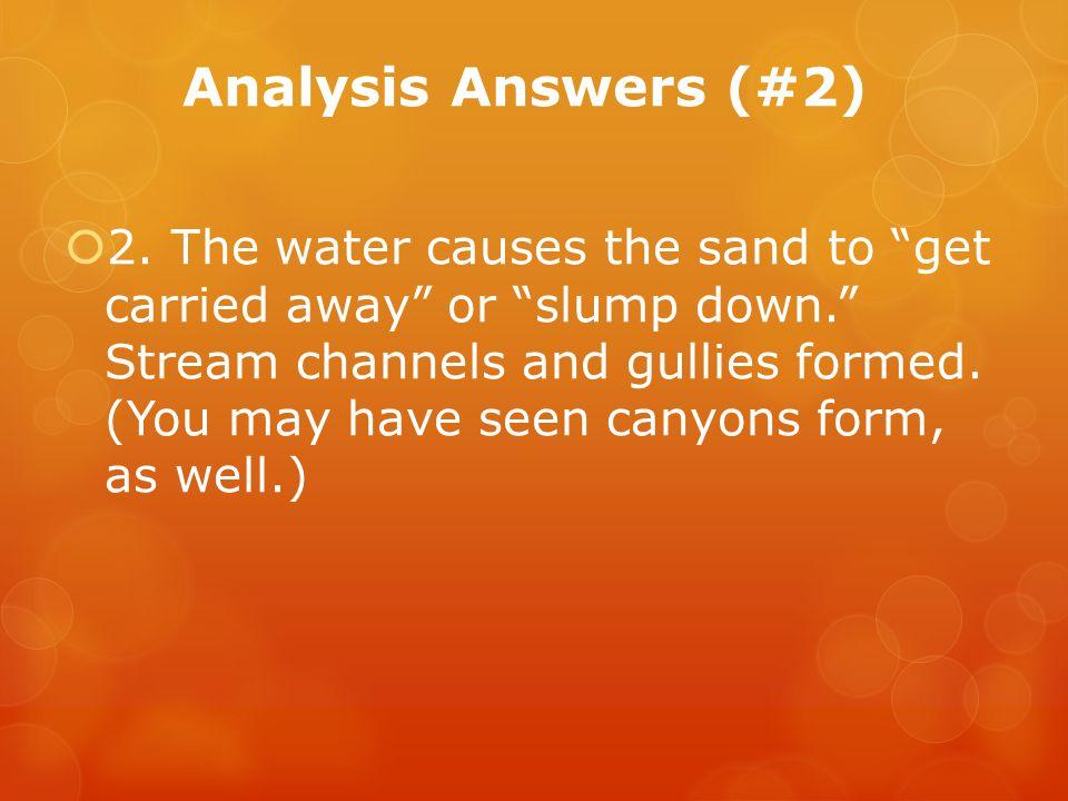 Analysis Answers (#2)